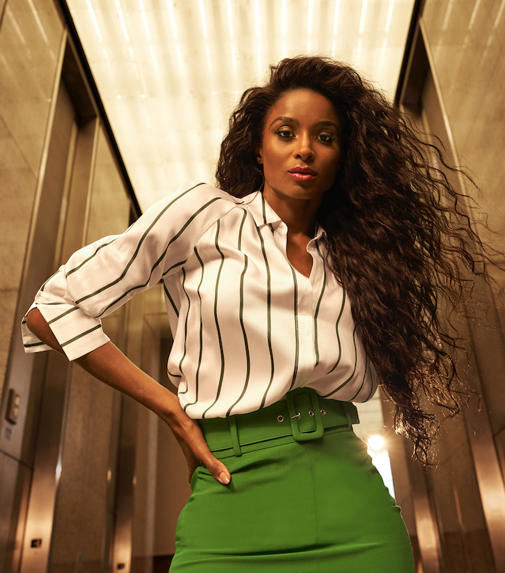 Ciara-green-skirt